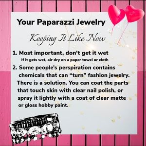 Caring for Paparazzi Jewelry